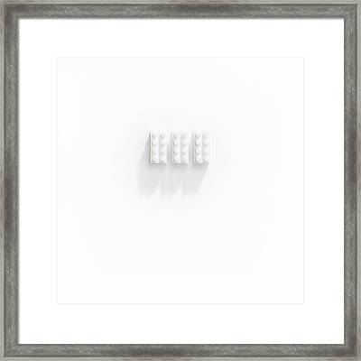 Builidng Blocks Framed Print