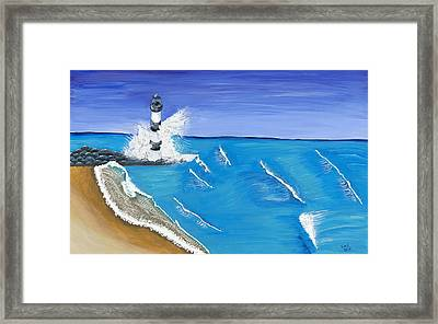 Built On Solid Rock Framed Print