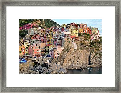 Framed Print featuring the photograph Built On The Slope by Frozen in Time Fine Art Photography