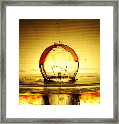 Bulb Fiction Framed Print