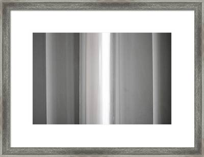 Bulb In Abstraction Framed Print