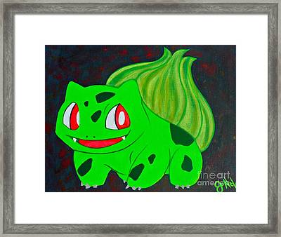 Bulbasaur Framed Print by JoNeL Art