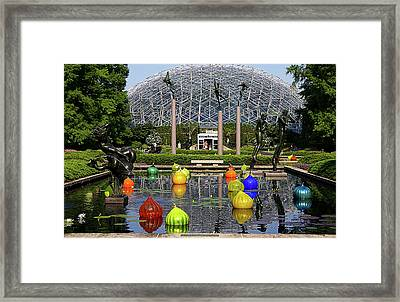 Bulbs On The Pond Framed Print by George Basden