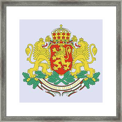 Bulgaria Coat Of Arms Framed Print by Movie Poster Prints