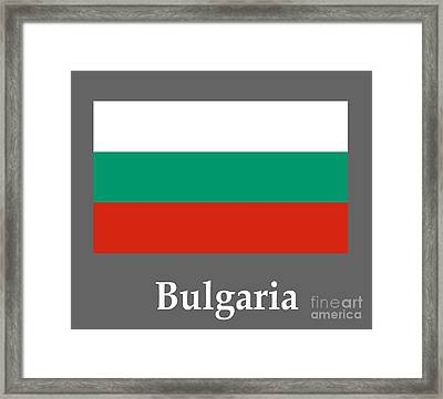 Bulgaria Flag And Name Framed Print by Frederick Holiday