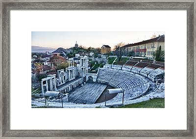 Bulgaria Theater Framed Print