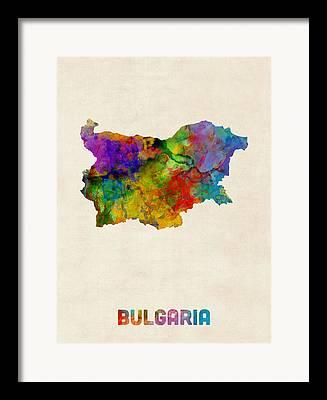 Bulgaria Digital Art Framed Prints
