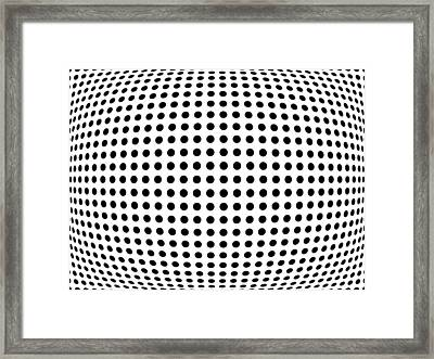 Bulge Dots Framed Print