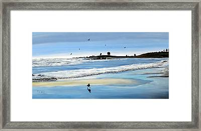 Bull Beach 2 Framed Print by Marilyn McNish