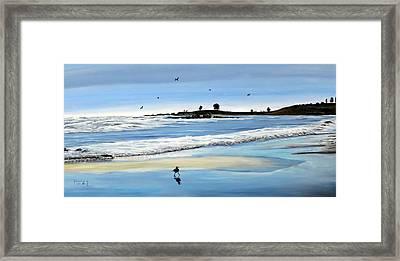 Bull Beach 2 Framed Print