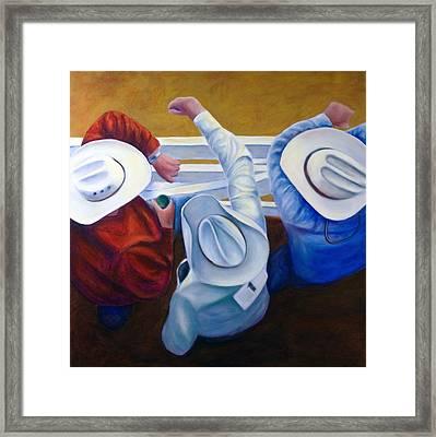 Bull Chute Framed Print by Shannon Grissom