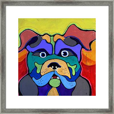 Bull Dog - Don't Give Me Your Lines , And Keep Your Hands To Yourself Framed Print