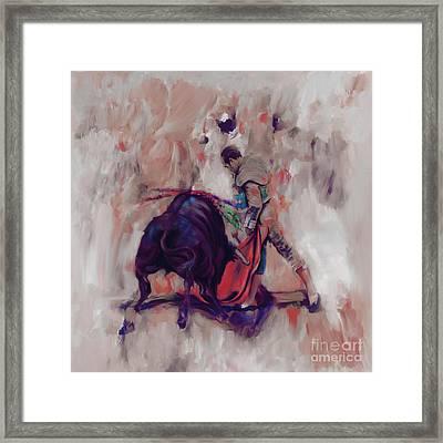 Bull Fight 009k Framed Print by Gull G