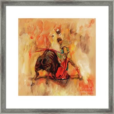 Bull Fight Hb56 Framed Print by Gull G