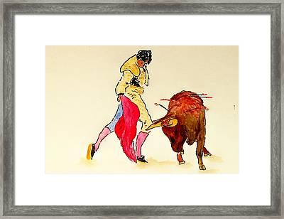 Bull Fighter Framed Print by Leo Gordon