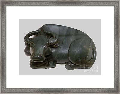 Bull Figure Framed Print