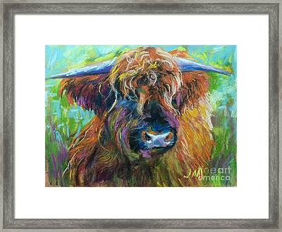 Bull Framed Print by Jieming Wang