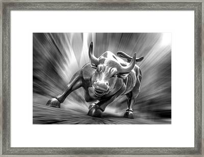 Bull Market Framed Print by Az Jackson