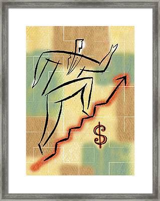 Bull Market Framed Print by Leon Zernitsky