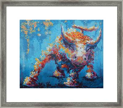 Bull Market X Framed Print