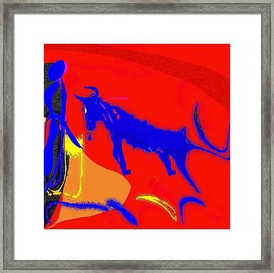 Bull Meets Matador Framed Print