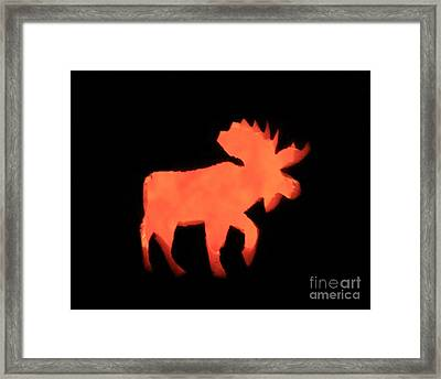 Bull Moose Pumpkin Framed Print