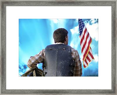 Framed Print featuring the photograph Bull Rider by Brian Wallace