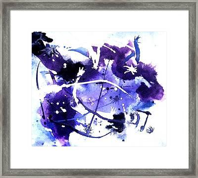 Bull Rider In The Sky Framed Print by Marsha Heiken