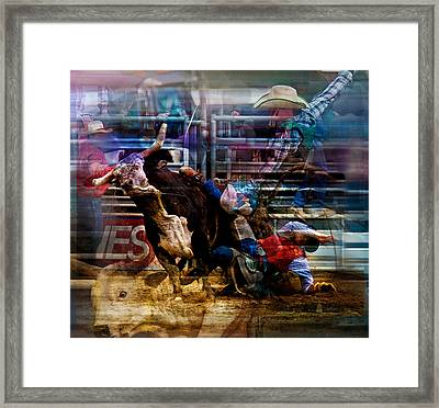 Bull Rider Framed Print by Mark Courage