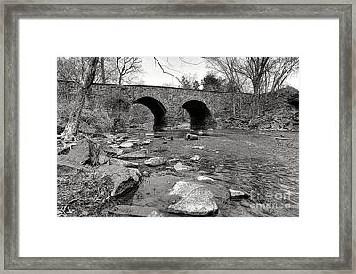 Bull Run Bridge Framed Print by Olivier Le Queinec