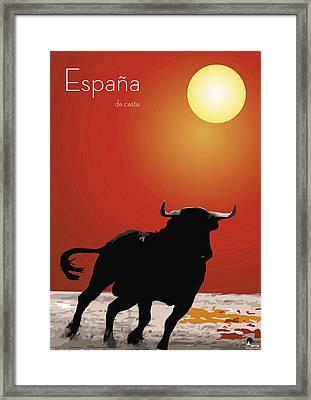 Spanish Bull Run Framed Print