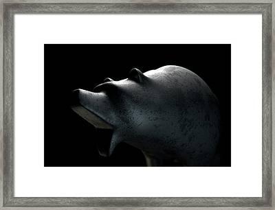 Bull Statue Framed Print by Allan Swart