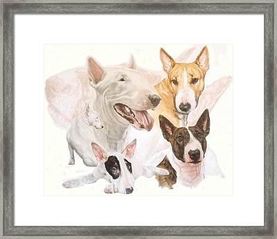 Bull Terrier W/ghost Framed Print
