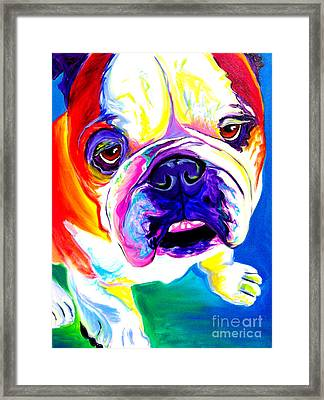Bulldog - Stanley Framed Print by Alicia VanNoy Call