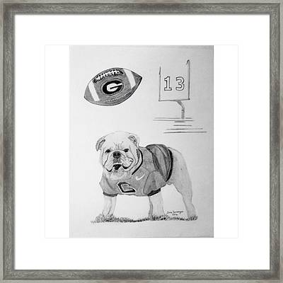 Bulldog Collage Framed Print