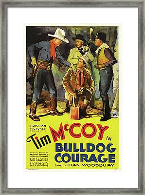 Bulldog Courage 1935 Framed Print