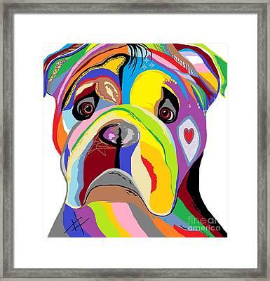 Bulldog Framed Print by Eloise Schneider