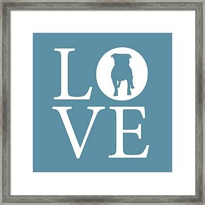 Bulldog Love Framed Print by Nancy Ingersoll