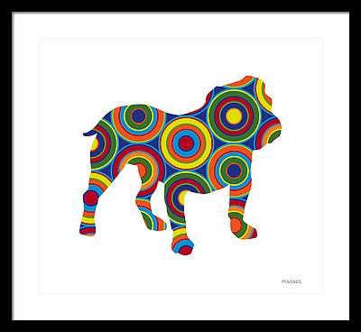 Bulldog Framed Prints