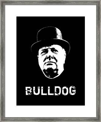 Bulldog - Winston Churchill Framed Print by War Is Hell Store
