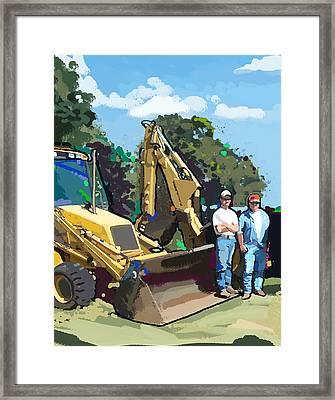 Bulldozer Guys Framed Print
