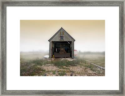 Bulldozer Shed Framed Print