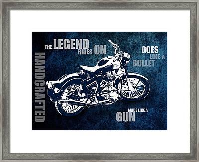 Bullet Blues With Caption Framed Print