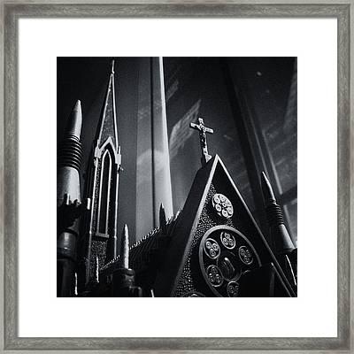 Bullet Church Framed Print