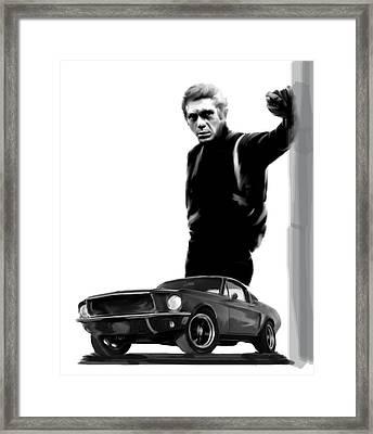 Bullitt Cool  Steve Mcqueen Framed Print