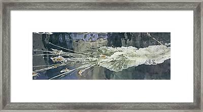 Bullet Fragmentation Abstract Framed Print by Kristin Elmquist