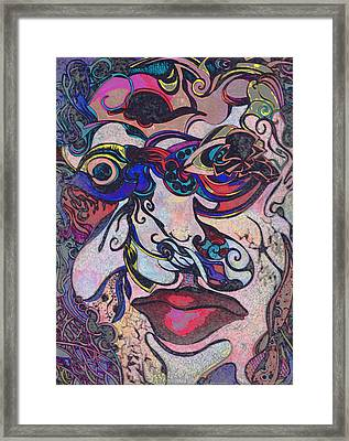 Bullet Hole Face Framed Print