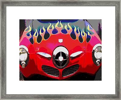 Bullet Nose Studebaker Framed Print by Audrey Venute