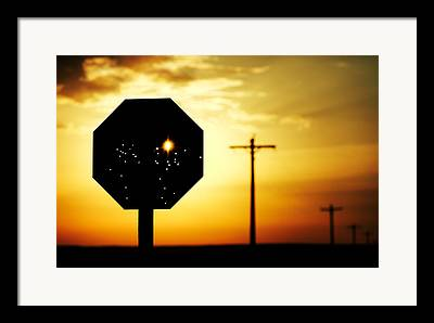 Stop Sign Framed Prints