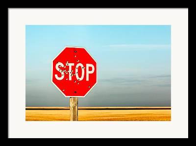 Traffic Stop Framed Prints